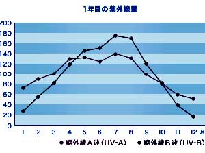 年間の紫外線量